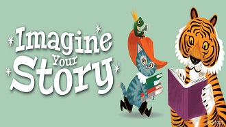 Imagine Your Story Logo with a cat and tiger