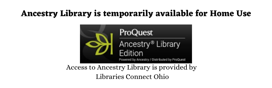 Ancestry Library is available for Home use with Ancestry logo