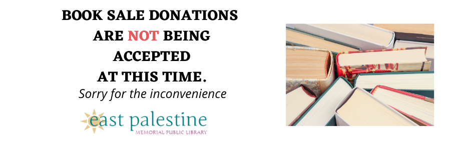 Donations for the Book Sale are not being accepted with photo of books